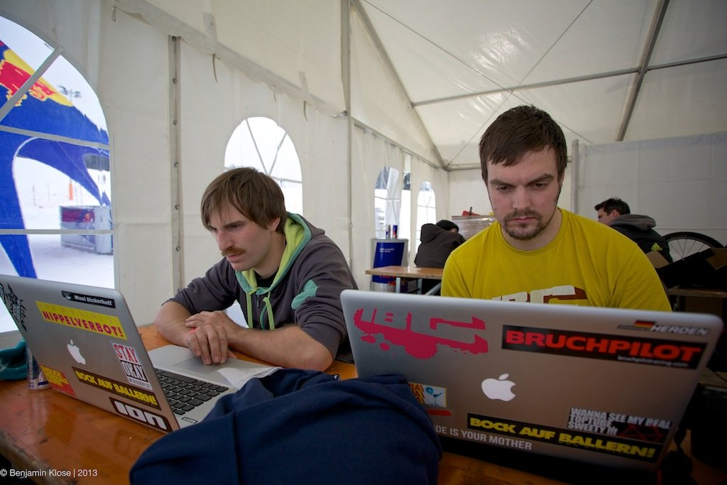 Maxi und Hannes hoch konzentriert
