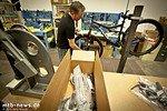 Nach dem Aufbau und Einstellen kommt das Bike wieder in die Versandkiste