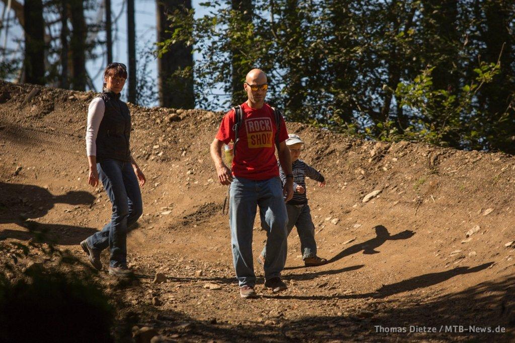 Familie van de Haterd beim Trackwalk
