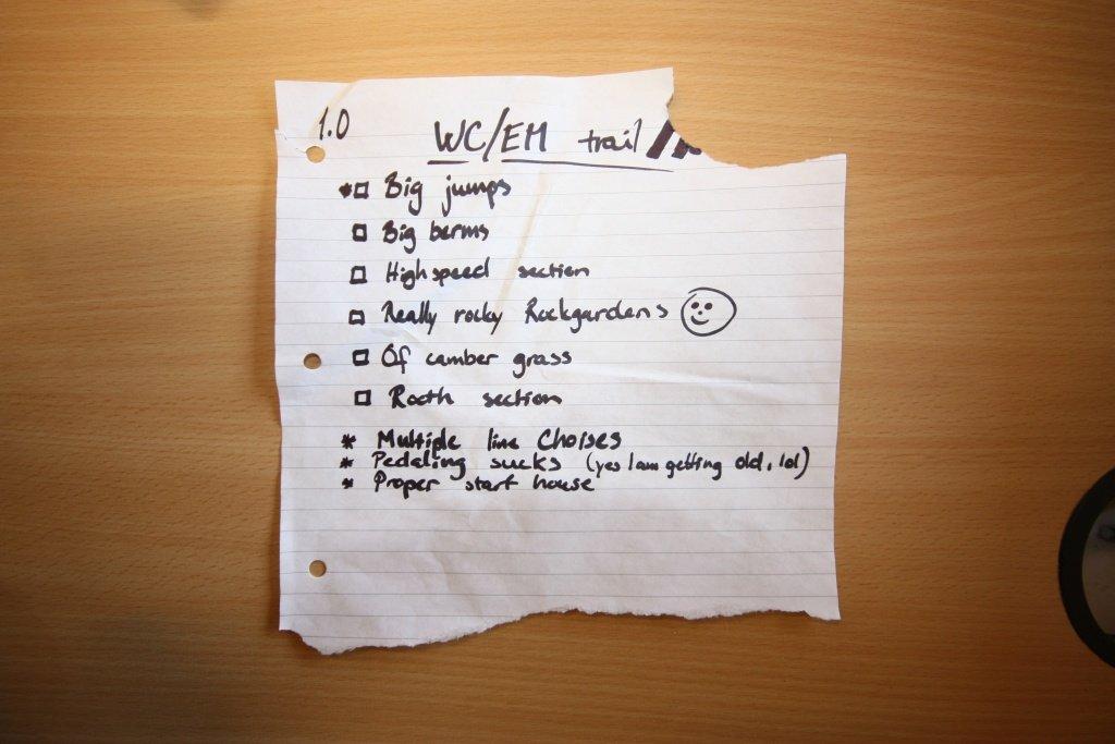 Snorres Liste für den World Cup Track