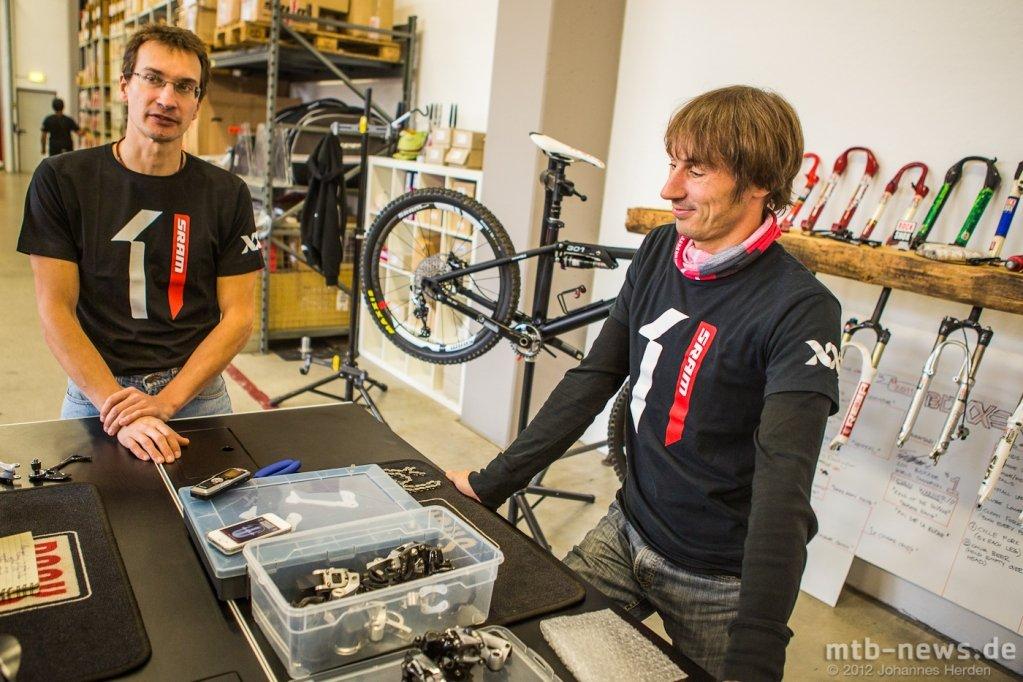 Die Schaltwerksspecialisten Andreas Benz und Robert Boehm
