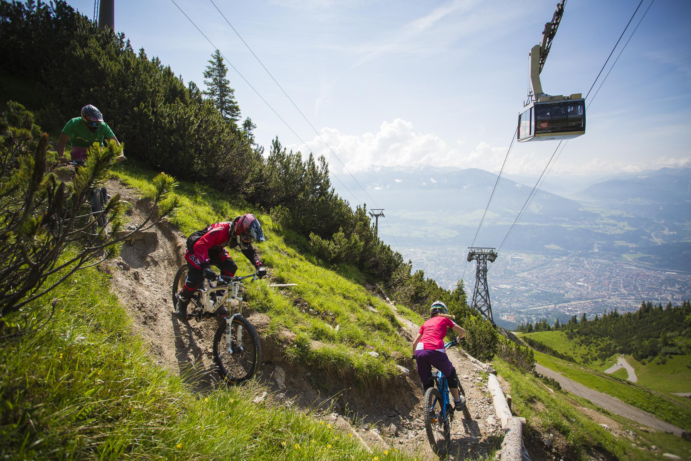 ... von Innsbruck – eine Streckenbesichtigung am Nordkette Singletrail